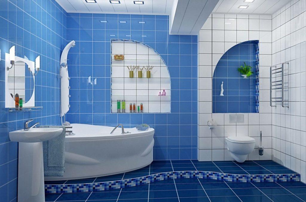 Conception d'une salle de bain moderne de style marin