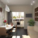 Mutarea bucătăriei în loggia pentru a elibera spațiu