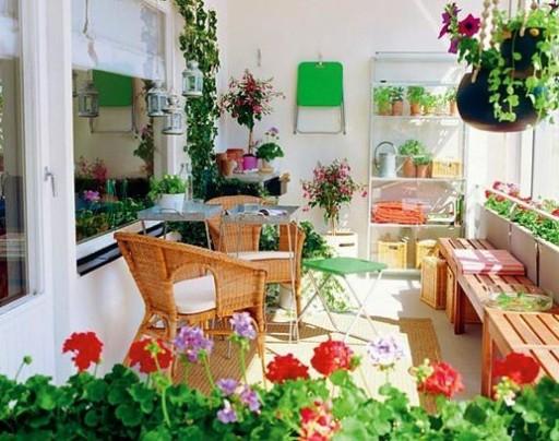 Grădină de iarnă pe balcon