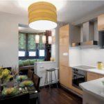 Zona de agrement de pe balcon combinată cu bucătăria