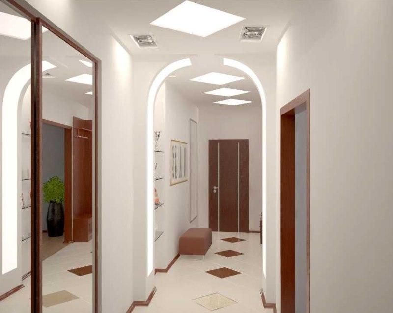 Arche à l'intérieur d'un couloir étroit