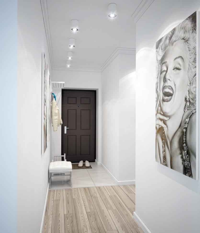 Couloir blanc appartement minimaliste