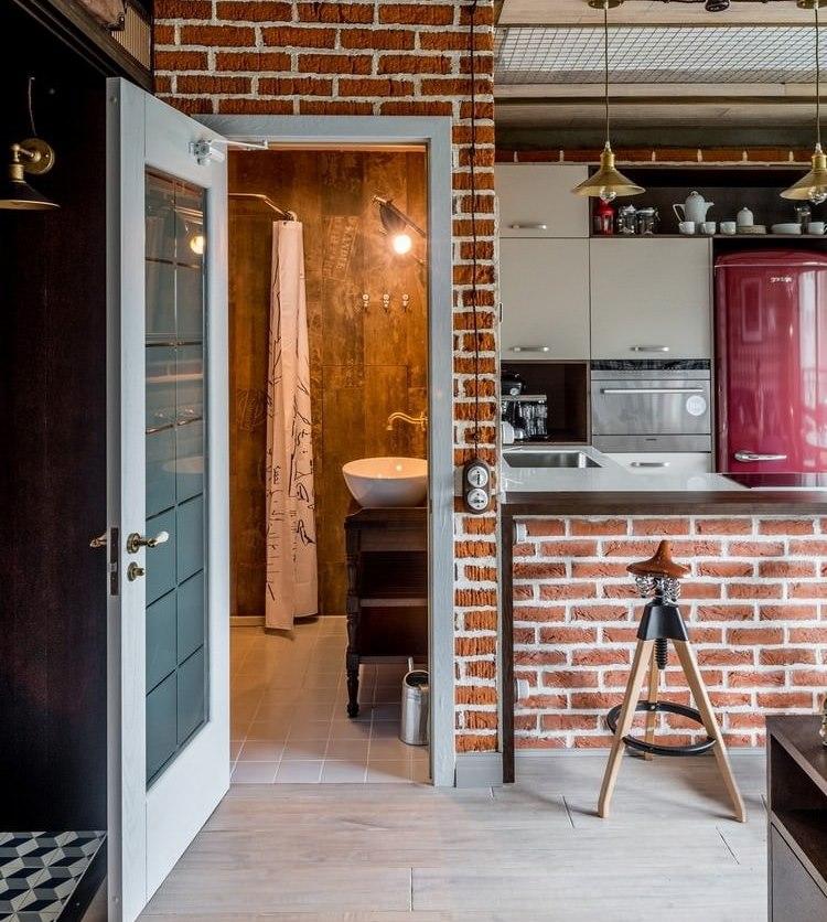 Porte de salle de bain combinée Loft