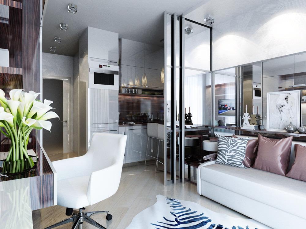 Cloison coulissante en verre de style minimaliste