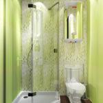 Conception de salle de bain verte