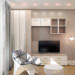 Mobilier d'armoire dans la conception d'un appartement en ville