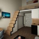 Conception d'un appartement superposé dans un style moderne