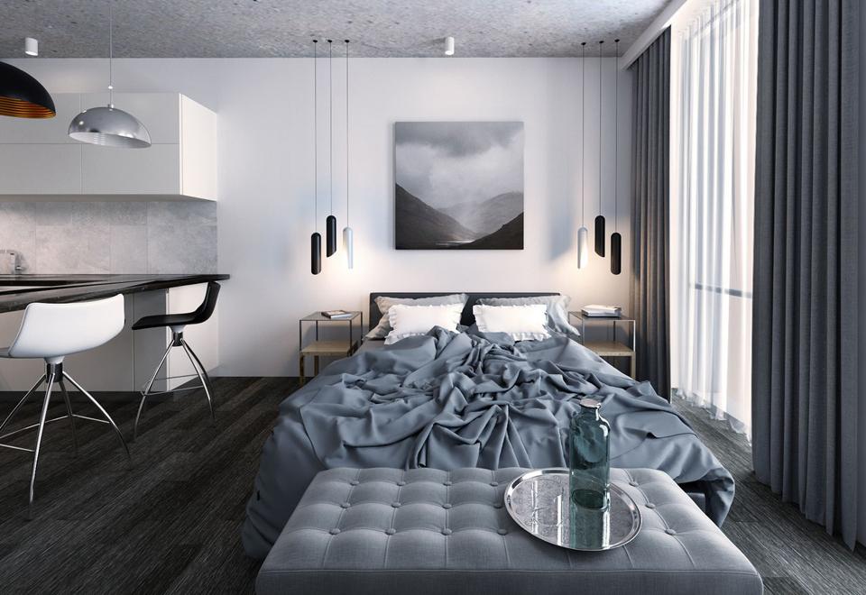 Faire une photo du mur au-dessus de la tête du lit