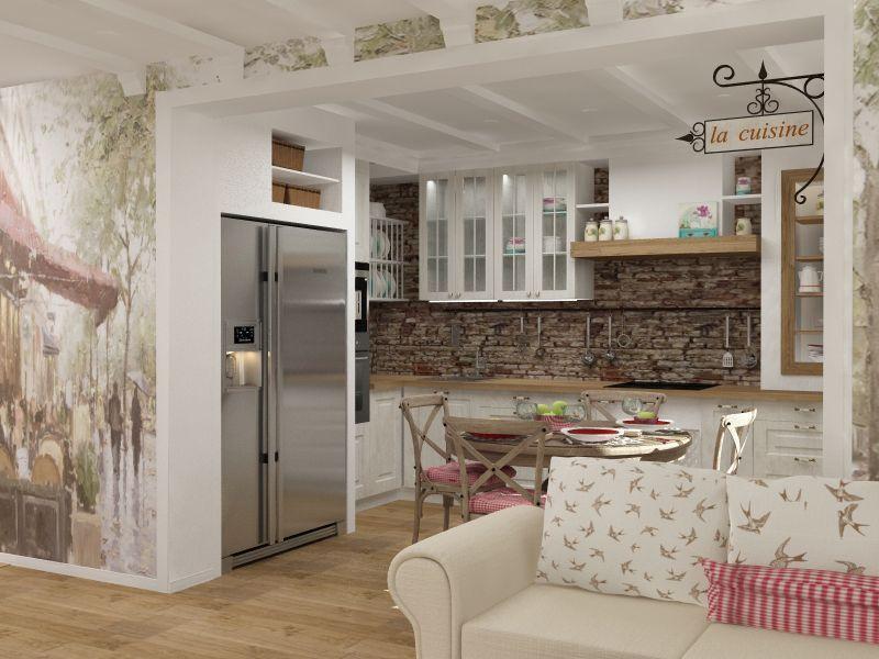 La conception du coin cuisine dans le style provençal