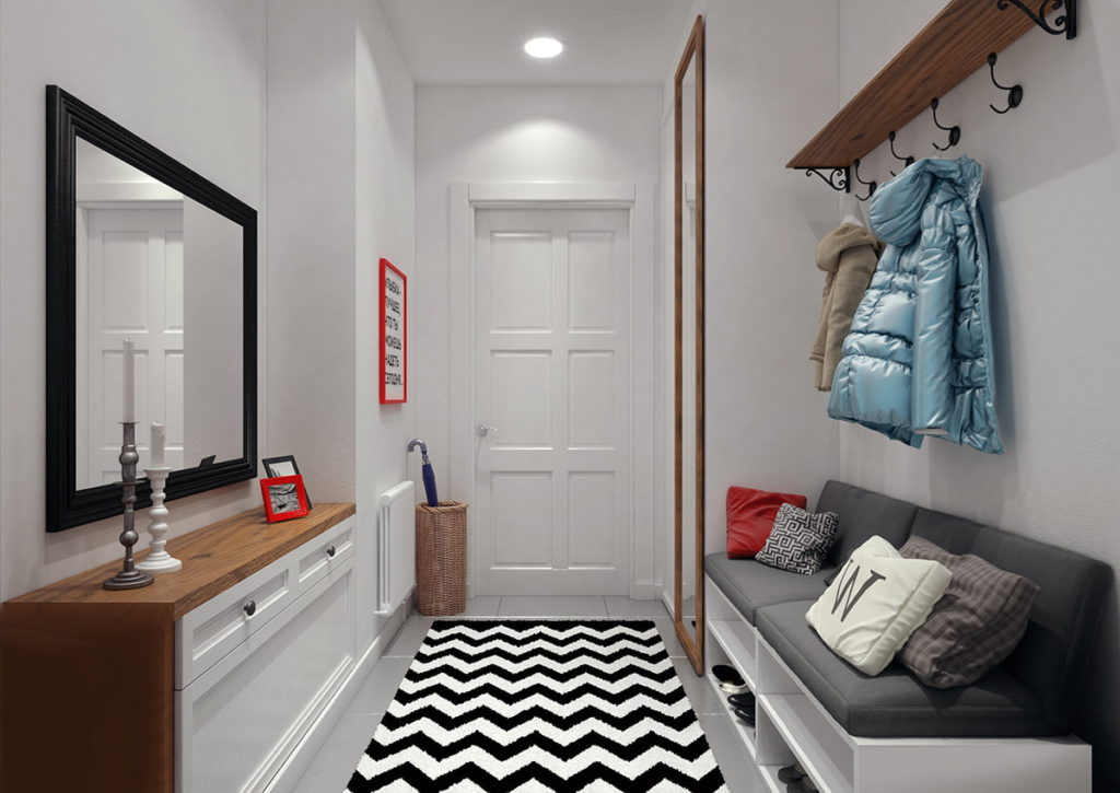 Décoration intérieure de couloir