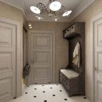 Conception de couloir avec lustre