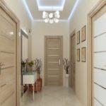 Conception de couloir avec sol en céramique