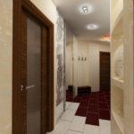 Zonage du couloir avec des carreaux de céramique