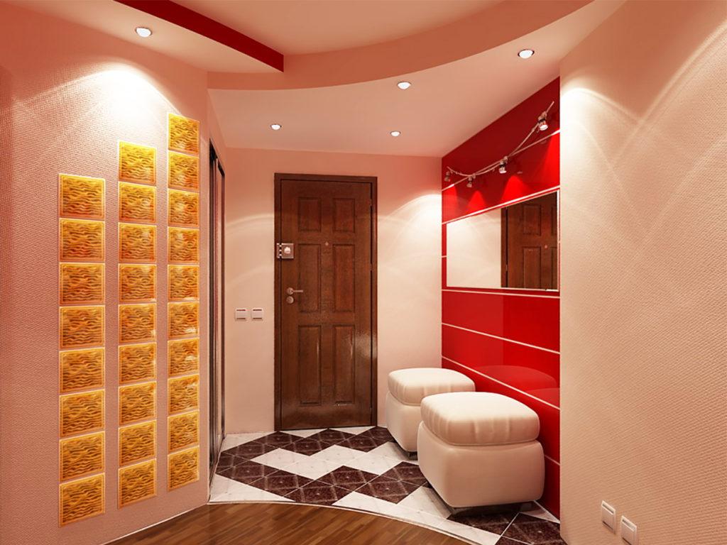Couleur rouge à l'intérieur du couloir