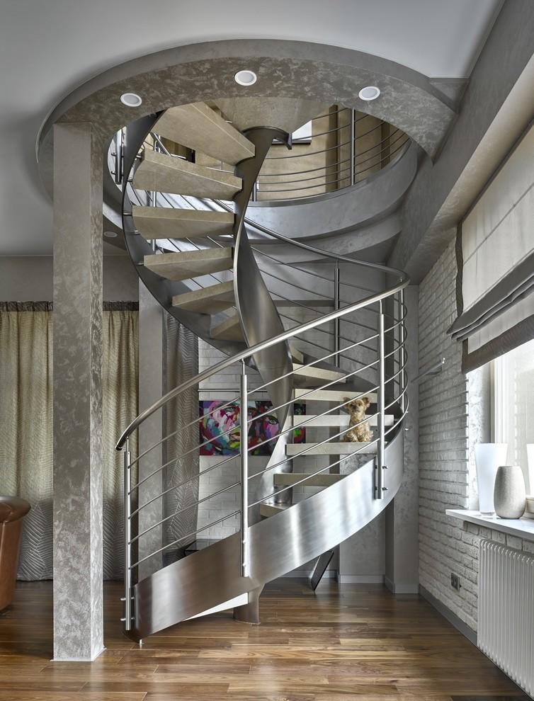 Escalier en colimaçon high-tech