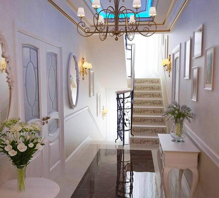 Escaliers dans une maison de style classique