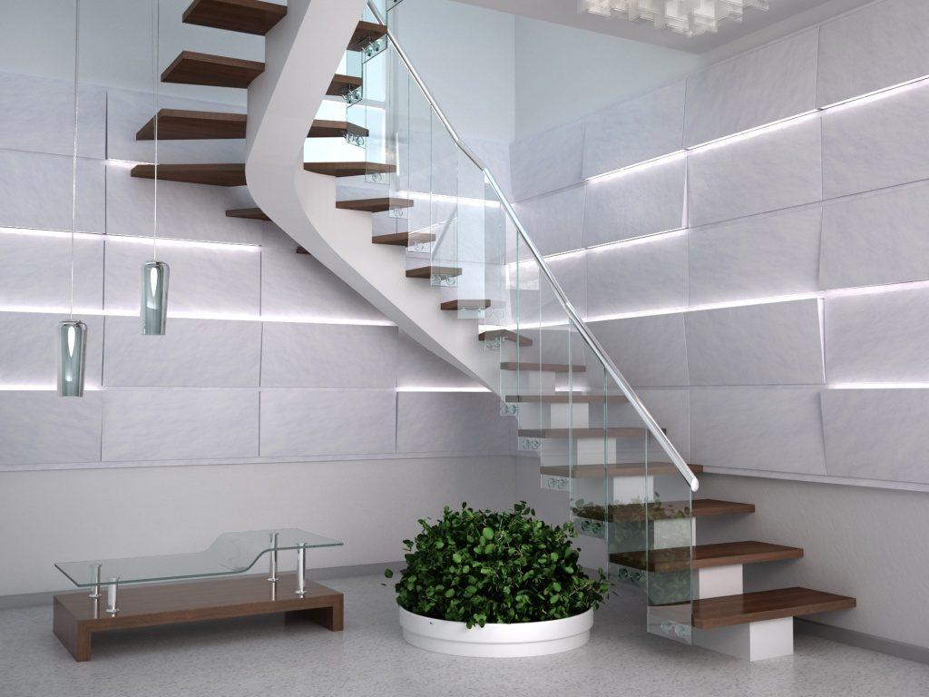 Escalier design high-tech