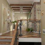 Conception du hall du deuxième étage d'une maison de campagne