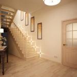 Conception de couloir beige
