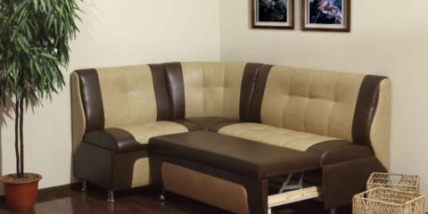 Canapé pliant brun beige pour la cuisine