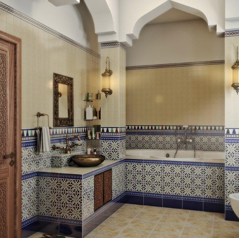 Badkamer In Oosterse Stijl Interieurfoto In Arabische Turkse Egyptische Stijl