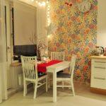 Groupe de salle à manger compact en bois peint