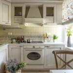 Bucătărie rustică de colț