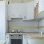 Bucătărie mică într-un stil modern