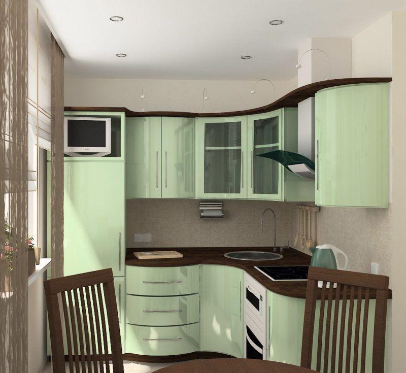 Un ensemble compact de teinte verte dans la cuisine de Khrouchtchev