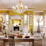 ثريا جميلة في مطبخ عصري