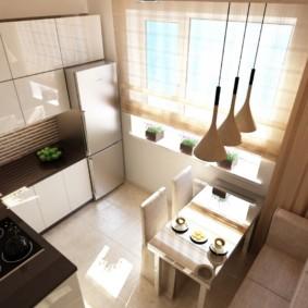 Thiết kế một nhà bếp nhỏ với một bộ góc