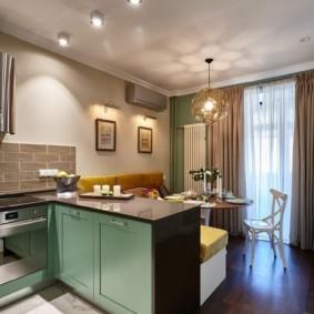 Thiết kế nhà bếp hiện đại với bán đảo