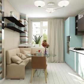 Màu xanh đặt trong nội thất nhà bếp