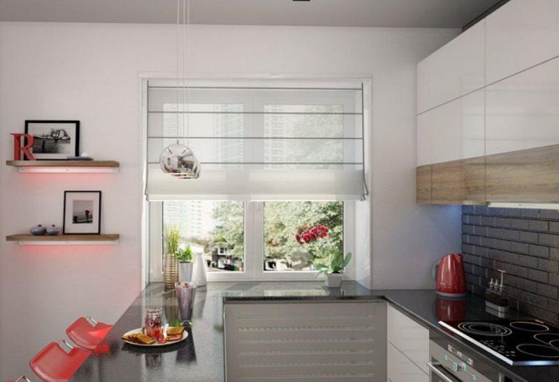 Thiết kế nhà bếp theo phong cách tối giản với quầy bar ăn sáng