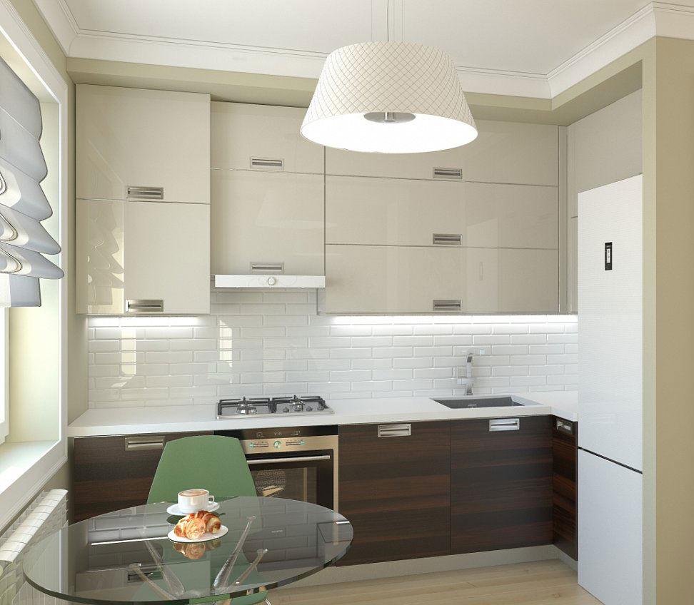 Éclairage LED de la zone de travail dans une petite cuisine