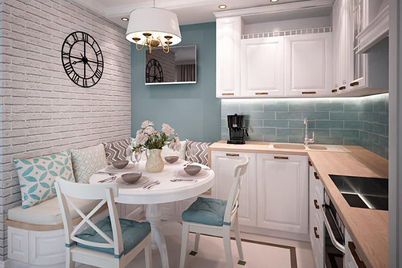 Nội thất cấu hình góc cạnh trong nội thất nhà bếp 9 ô vuông