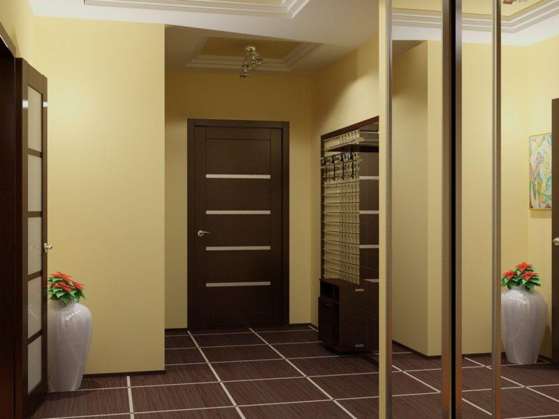 couloir dans la conception de photos Khrouchtchev