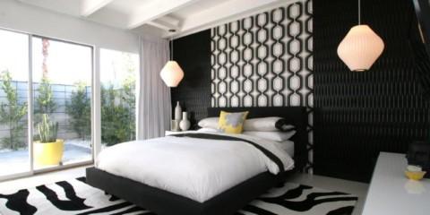 conception de chambre noir et blanc