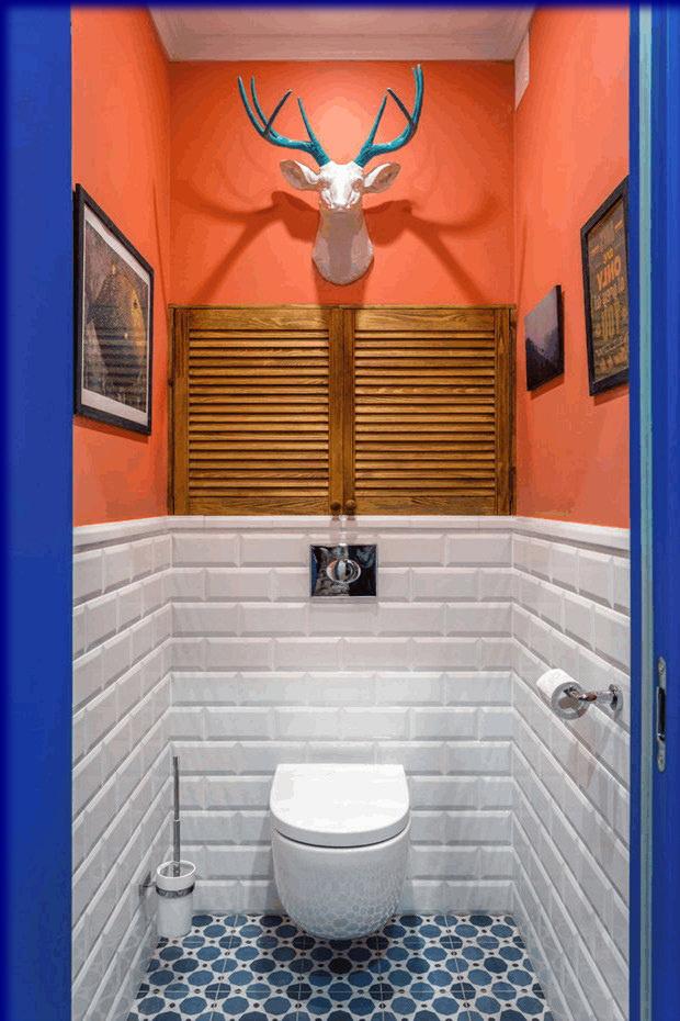 Belle décoration d'une petite toilette