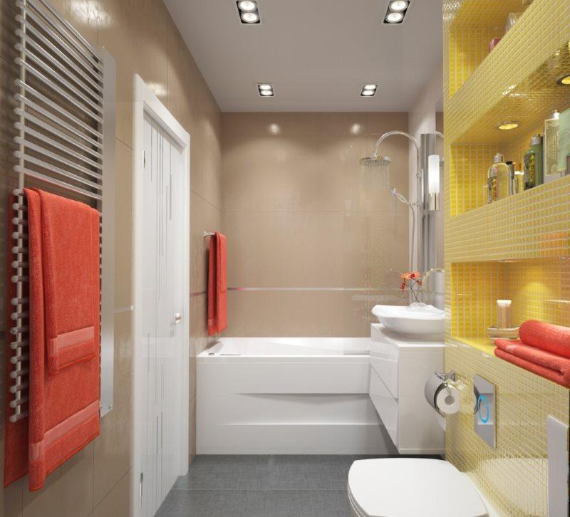 Concevez un projet de salle de bain dans le style du minimalisme