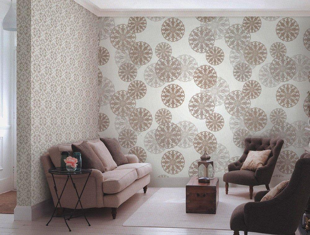 giấy dán tường không dệt trong phòng khách