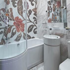 Lavabo compact avec tiroir pour petite baignoire