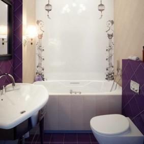 السباكة البيضاء في الحمام من 2 متر مربع