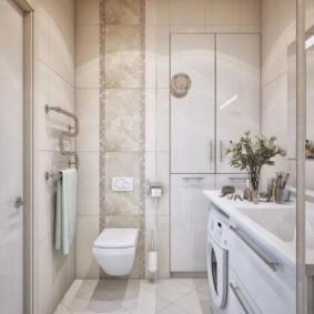 تصميم الحمام الحديث مع تركيبات معلقة