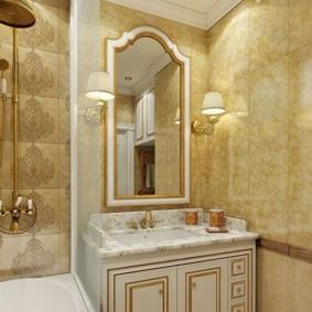 Intérieur de salle de bain classique
