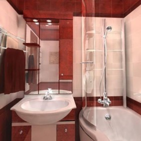 Conception d'une salle de bain moderne dans une maison en panneaux