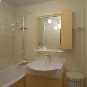 الحمام الداخلية بألوان زاهية