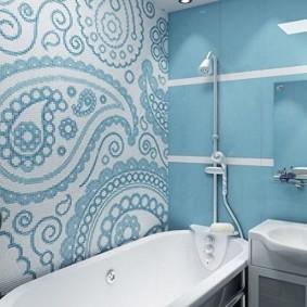 Mosaïque à l'intérieur d'une salle de bain moderne
