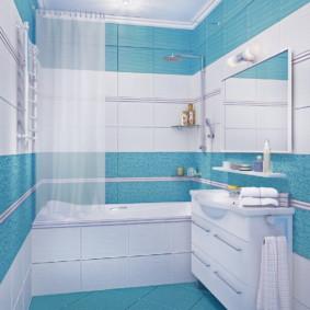 Gạch màu ngọc lam trong nội thất phòng tắm