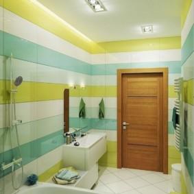 Tường sọc trong phòng tắm